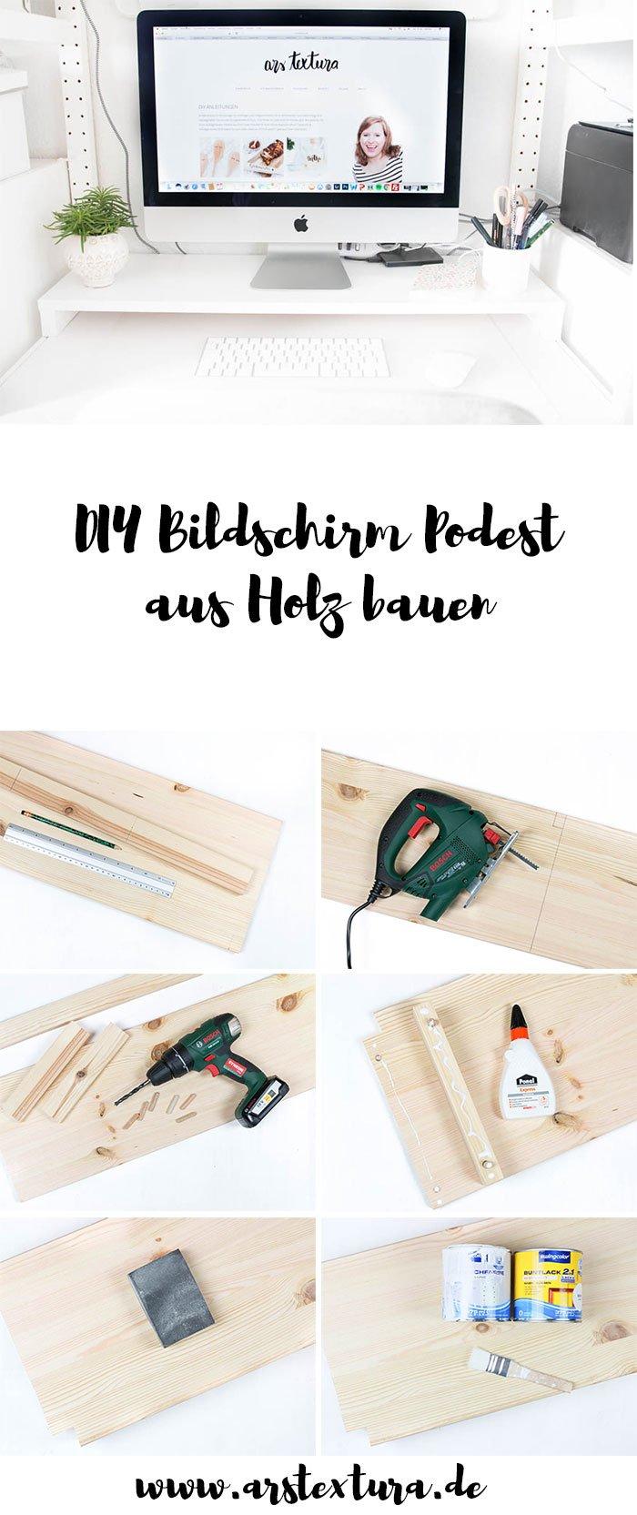 DIY Bildschirm Podest aus Holz bauen | einfaches Holzprojekt