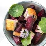 Geräucherte Rote Bete mit Feta | ein deftiges vegetarisches Rezept
