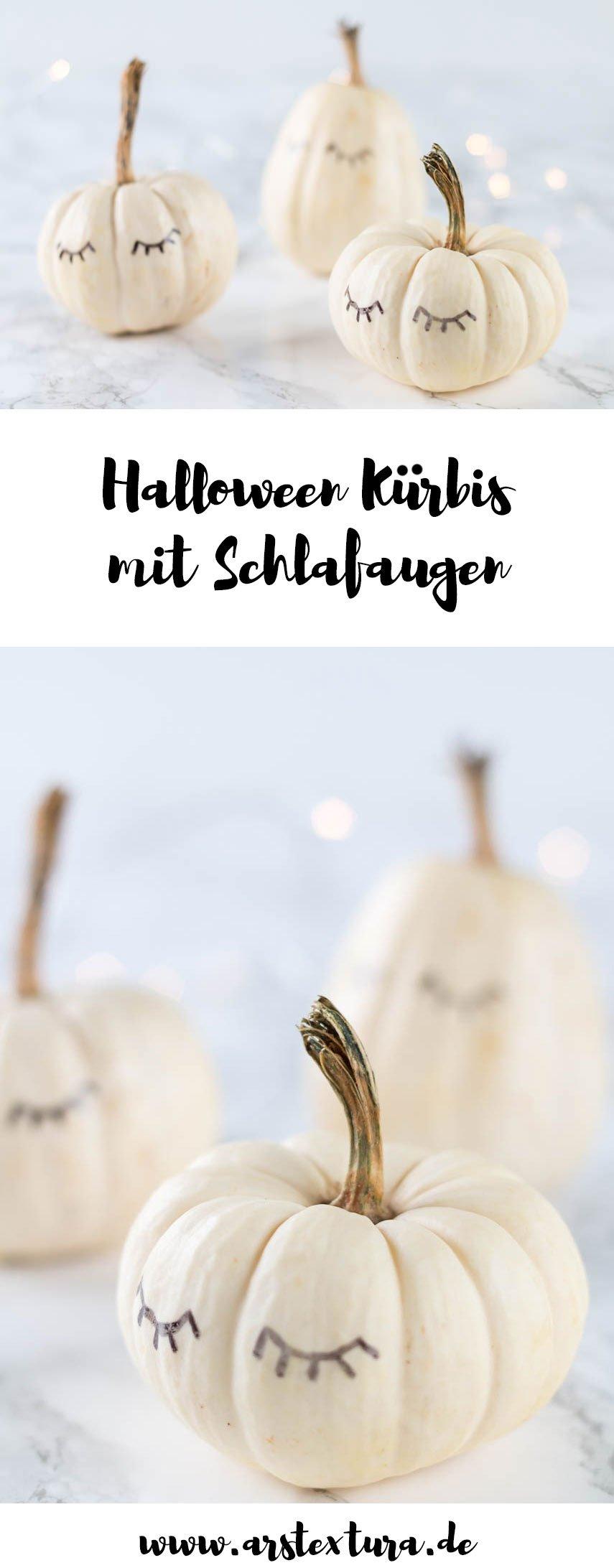 Halloween Deko basteln | Kürbis mit Augen