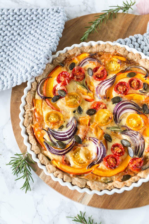 Quiche mit Kürbis und Tomaten - ein leckeres Herbstrezept