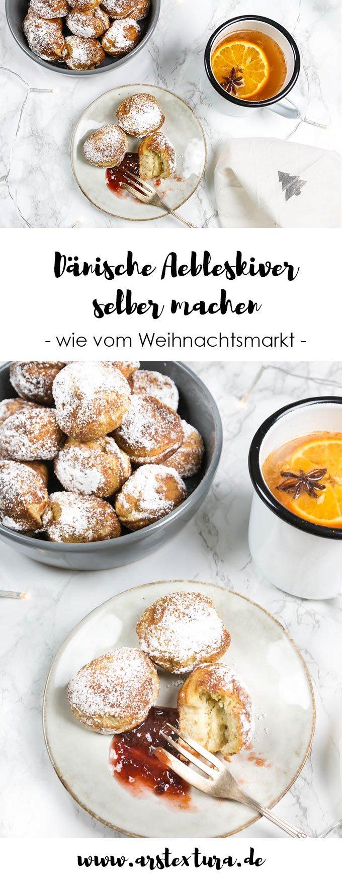Rezept für dänische Aebleskiver wie vom Weihnachtsmarkt - perfekt für einen weihnachtlichen Hygge Tag mit der ganze Familie | #hygge #weihnachtsrezept # weihnachten