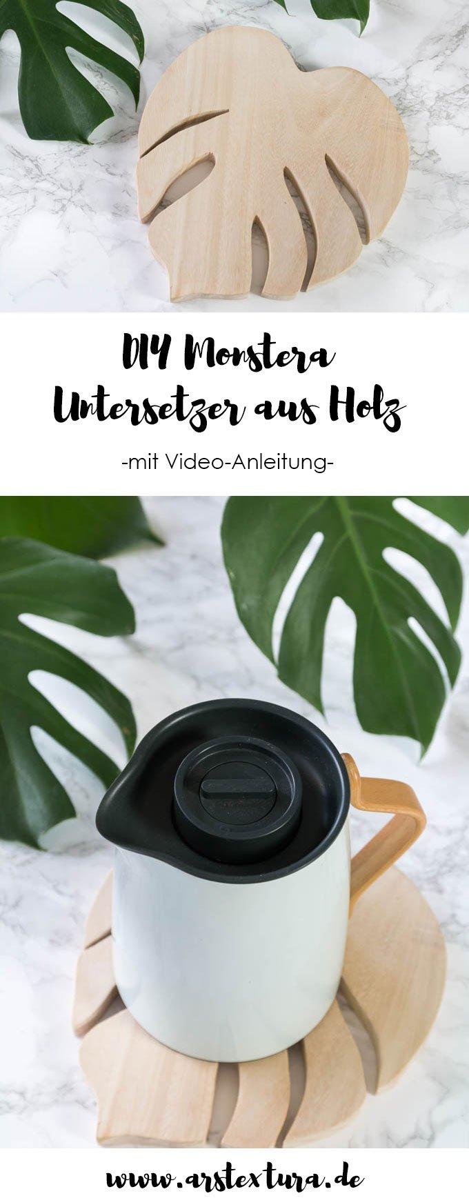 DIY Monstera Untersetzer - ein tolles DIY Geschenk aus Holz | #diygeschenk