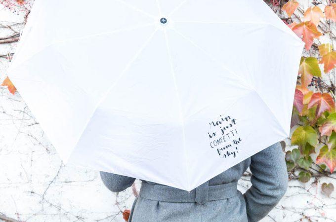DIY Regenschirm mit Handlettering