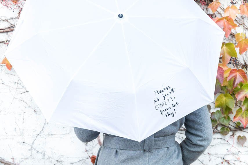 DIY Regenschirm - Rain is just confetti from the sky