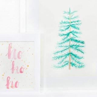 Aquarell mit Weihnachtsbaum malen
