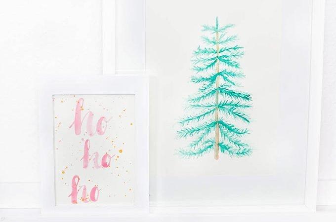 *4* Weihnachtliche Aquarellbilder