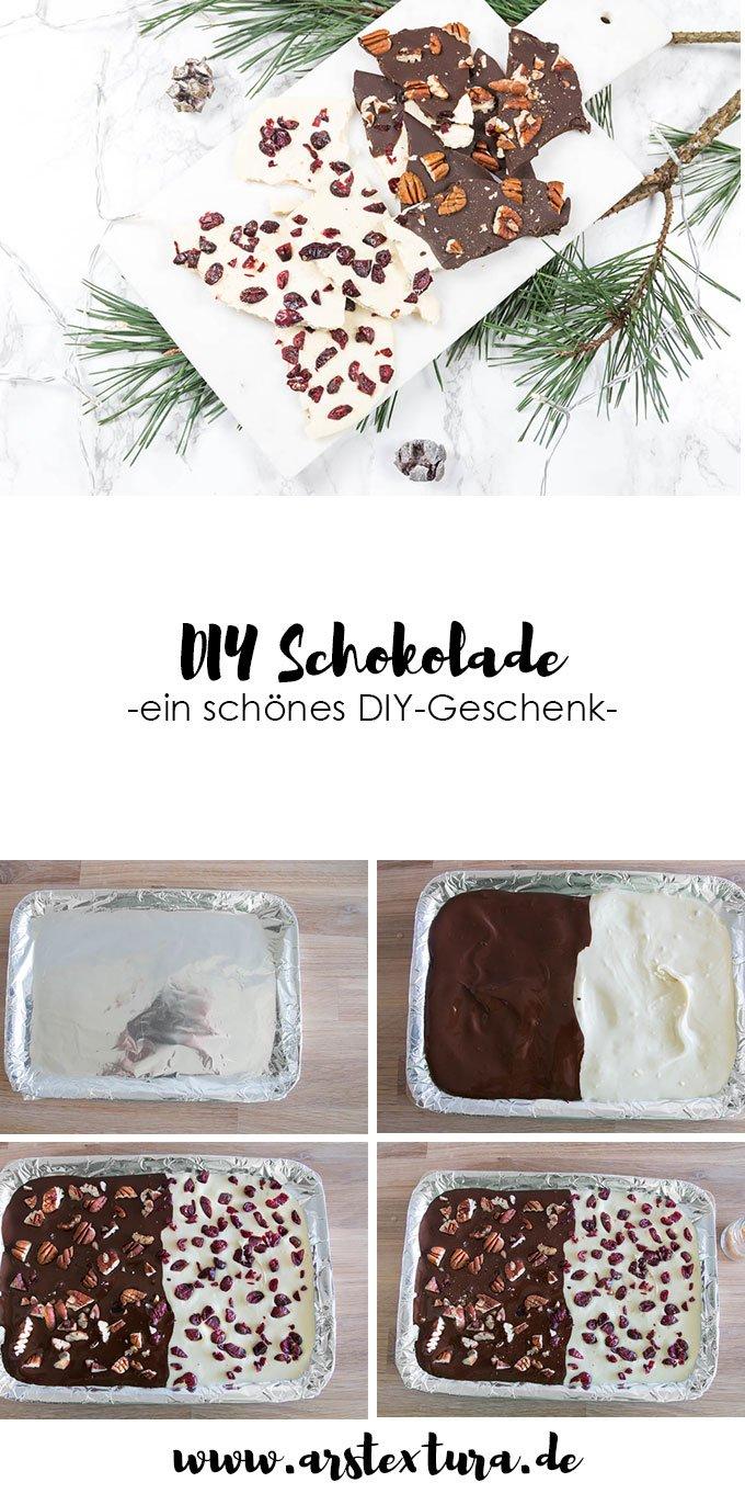 DIY Schokolade zum Verschenken - ein schönes DIY Geschenk zu Weihnachten