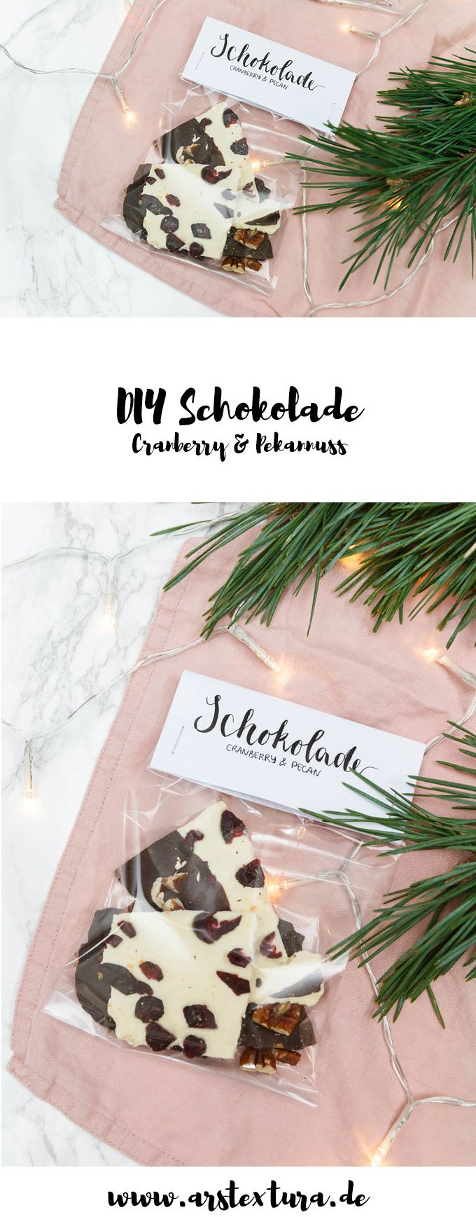 DIY selbstgemachte Schokolade verschenken - ein schönes DIY Geschenk zu Weihnachten für die ganze Familie