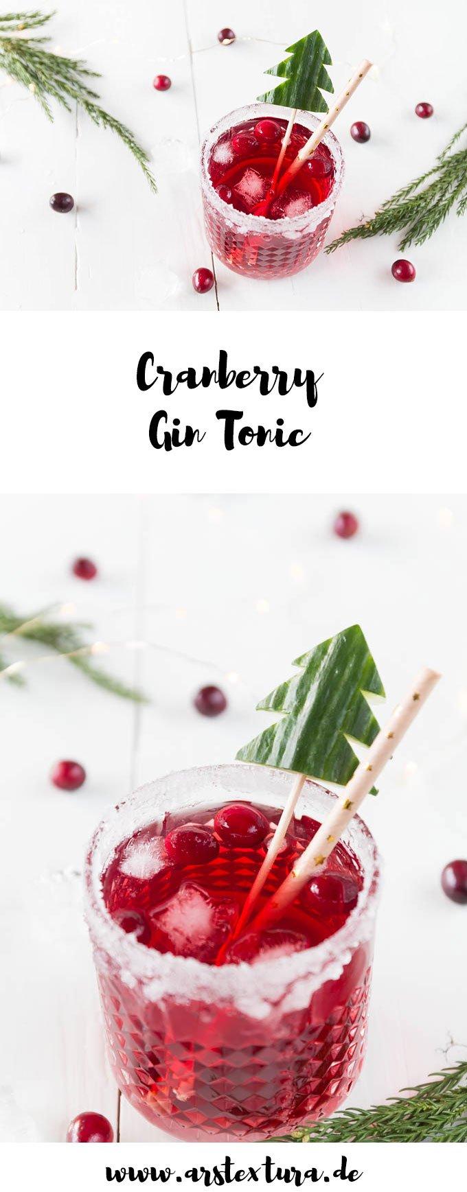 Cranberry Gin Tonic ist ein tolles Getränk zu Weihnachten - er passt perfekt als Aperitif zum Weihnachtsmenü | ars textura - DIY & Food Blog