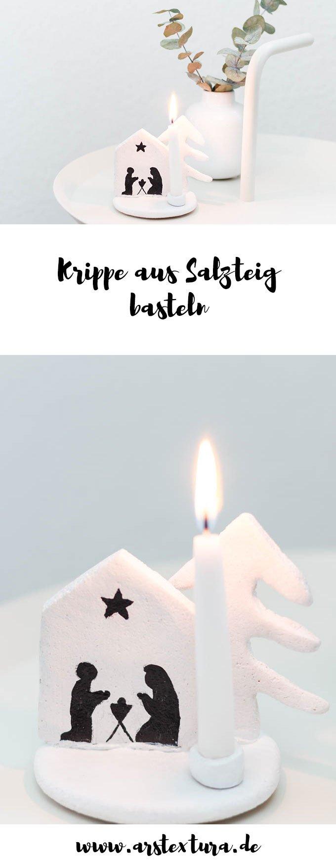 Salzteig Rezept: Krippe aus Salzteig - günstige Weihnachtsdeko basteln - ars textura - DIY Blog