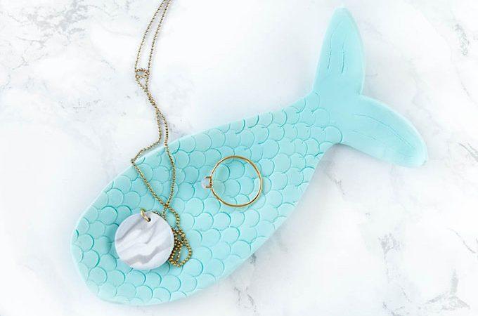 *18* Mermaid Schmuckschale aus Fimo