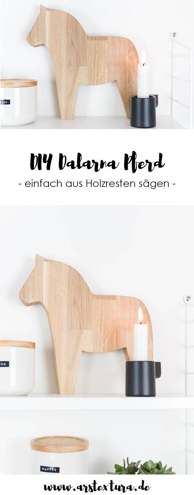 DIY Dalarna Pferd aus Holz selber machen mit DIY Anleitung - Weihnachtsdeko in der Küche im Hygge Scandi Style | ars textura - DIY Blog