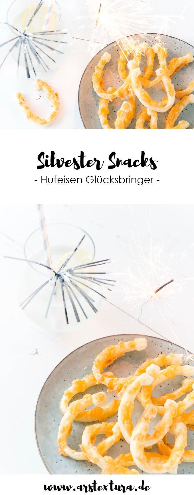 Silvester Rezept: Snacks - Hufeisen aus Blätterteig selber machen  | ars textura - DIY Blog
