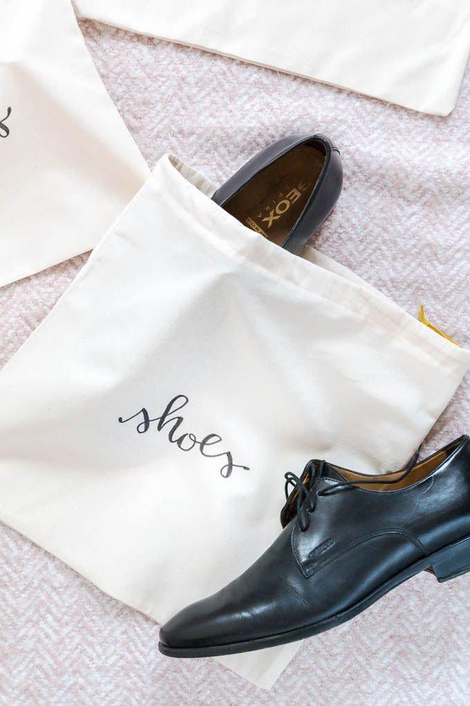 Nähen Anleitungen: Schuhbeutel für Männer nähen - ein tolles DIY Geschenk zum Geburtstag | ars textura - DIY Blog