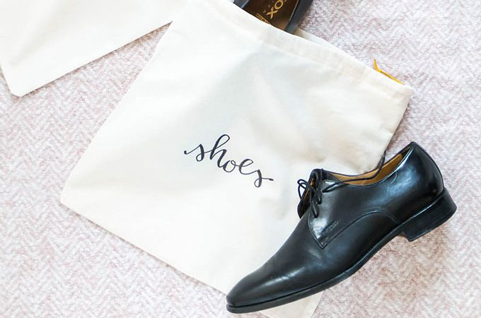 DIY Schuhbeutel nähen