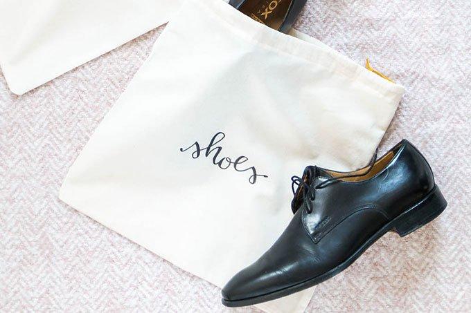 DIY Schuhbeutel nähen - ein tolles DIY Geschenk für Männer zum Geburtstag oder Weihnachten | ars textura - DIY Blog