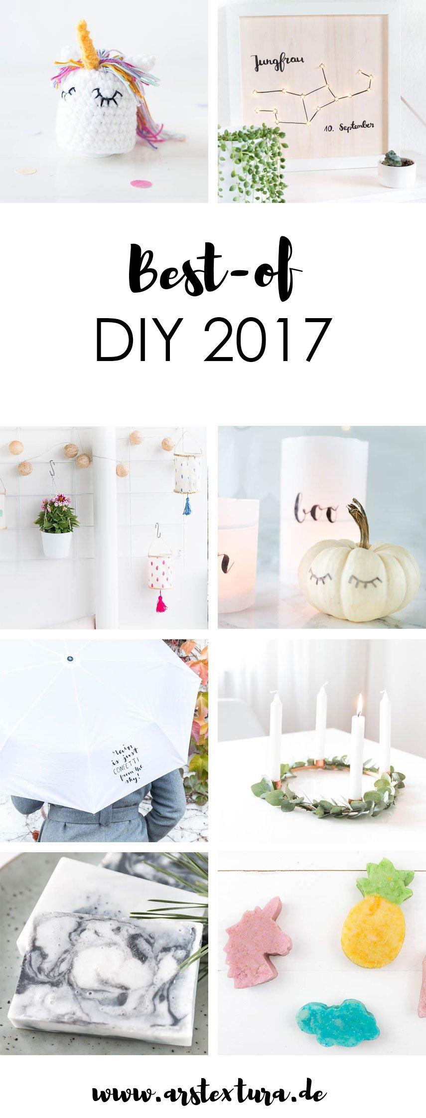 Best-of DIY 2017 - die schönsten DIY Ideen, DIY Geschenke und DIY Dekoration aus dem letzen Jahr. Entdeckt hier schöne Bastelideen und selbstgemachte Geschenke | ars textura - DIY Blog