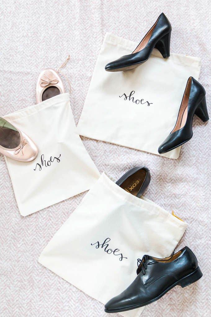 Nähen Anleitungen: DIY Schuhbeutel nähen - ein tolles DIY Geschenk | ars textura - DIY Blog