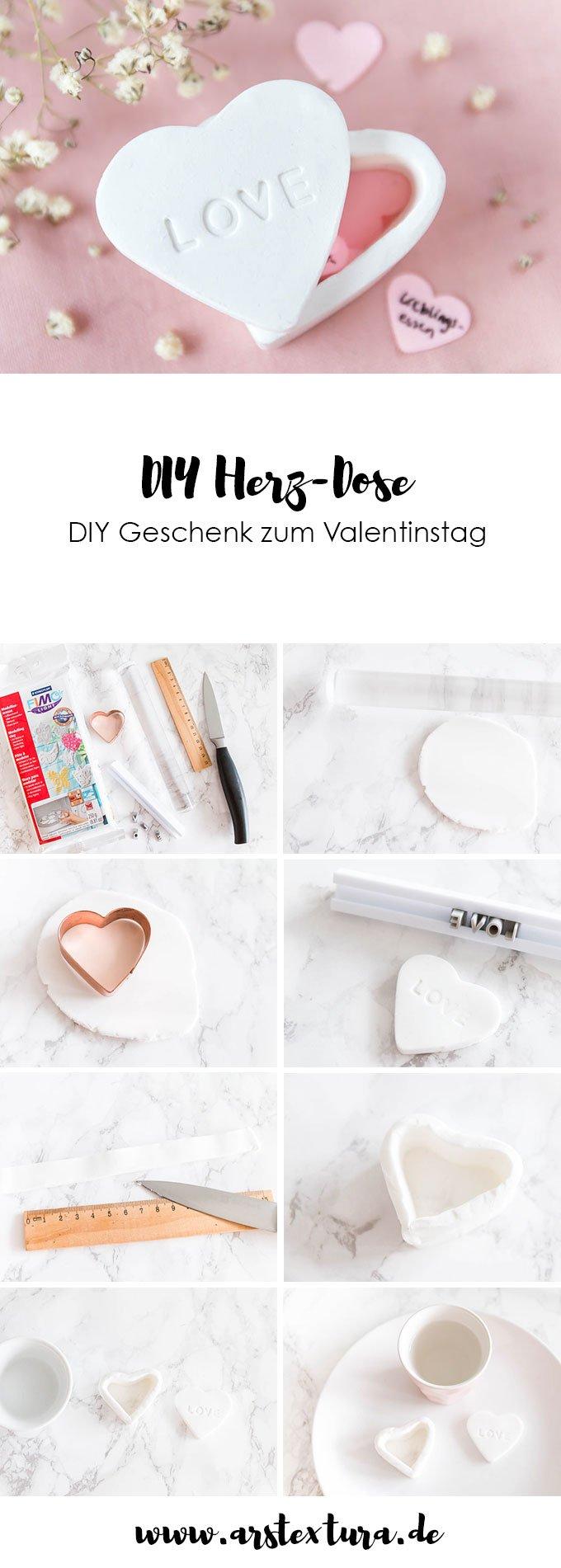 Fimo Ideen: DIY Herz-Dose aus Fimo - ein schönes DIY Geschenk zum Valentinstag | ars textura - DIY Blog