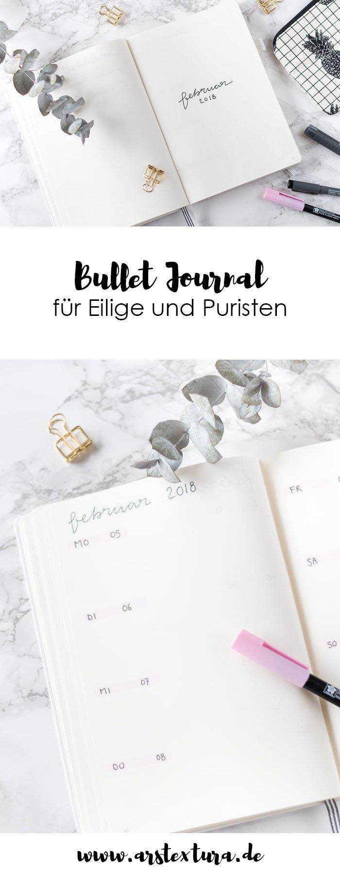 Bullet Journal mit Anleitung in weniger als 10 Minuten - einfaches Tagebuch gestalten | ars textura - DIY Blog