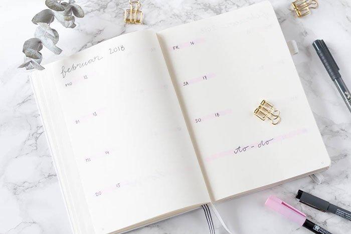 Bullet Journal Februar Set-up und Anleitung   ars textura - DIY Blog