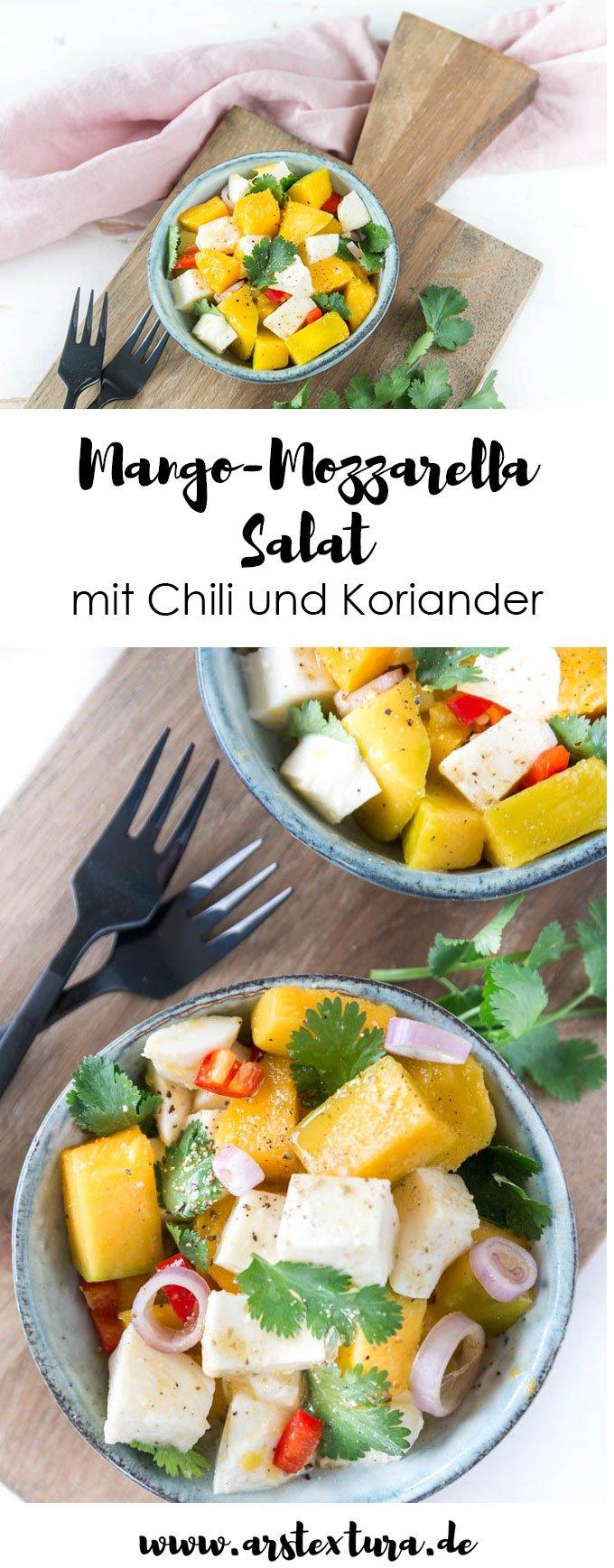 Rezept Mango Mozzarella Salat - genau das richtige für die nächste Grillparty und das perfekte Soulfood für Fernweh im Winter | ars textura - DIY Blog