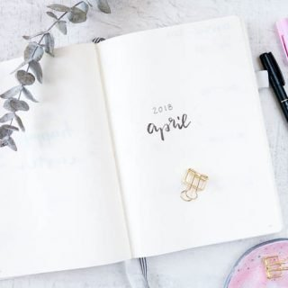 Bullet Journal April Set up + DIY Kanban Board - ars textura DIY Blog