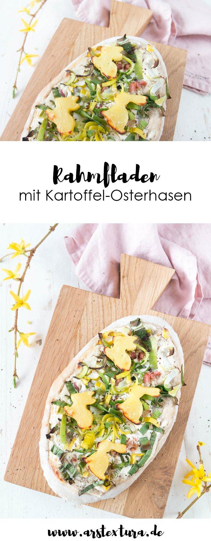 Ostern Rezepte: Rahmfladen mit Kartoffeln und Lauch mit Osterhasen - perfekt fürs Ostermenü | Dinnede Rezept | Dinnete selber machen