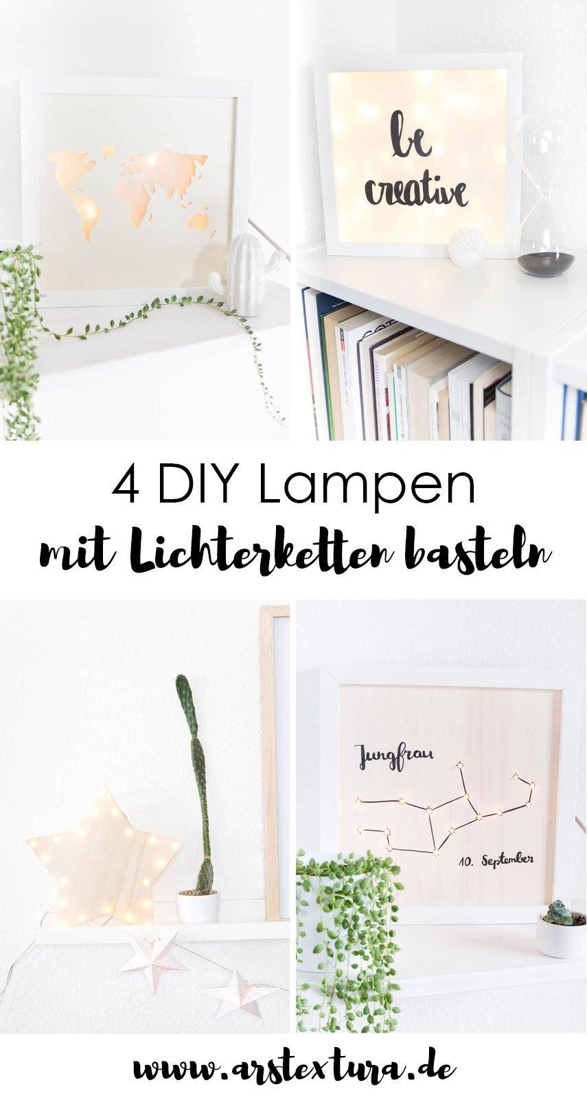DIY Lightbox und Lampen mit Lichterketten selber machen - schöne DIY Dekoration für die Wohnung basteln und ein gemütliches Licht in die Wohnung zaubern | ars textura - DIY Blog