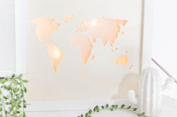 Beleuchtete Weltkarte – DIY Lightbox basteln