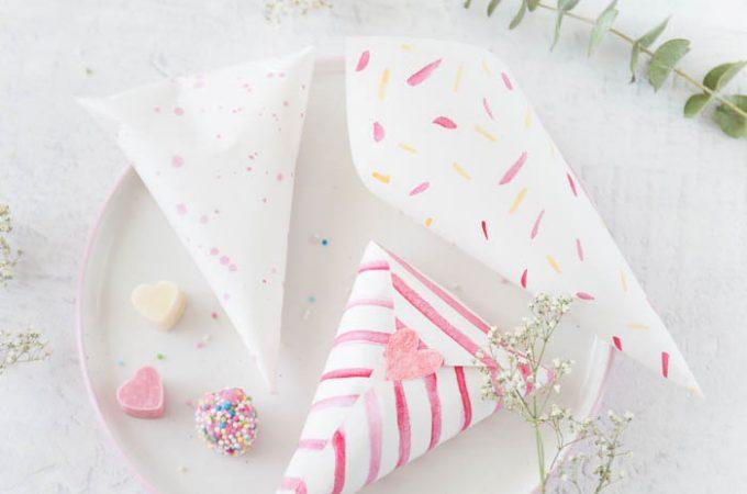 Bunte Herz-Schokolade & DIY Bonbontüten – DIY Geschenke zum Muttertag