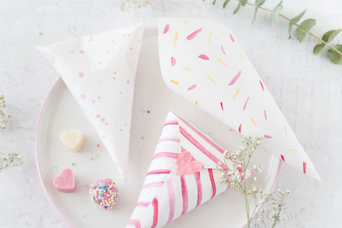 Bunte Herz Schokolade Diy Bonbontüten Diy Geschenke Zum