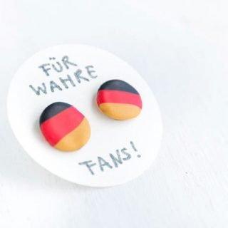 DIY Deutschland Ohrstecker für die WM oder EM selber machen | ars textura - DIY Blog