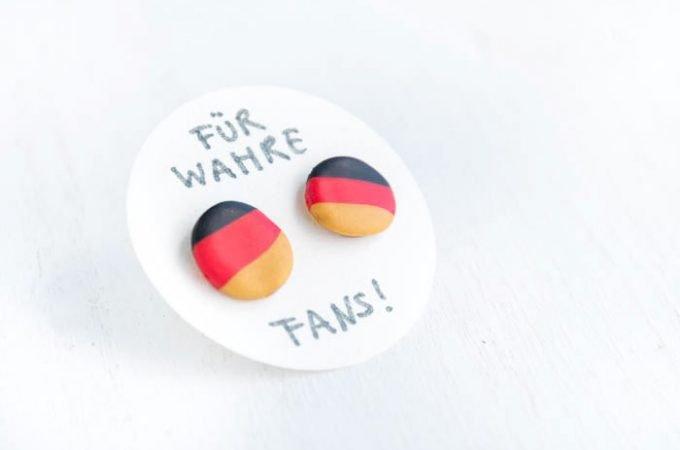 DIY Deutschland Ohrstecker fürs perfekte Fan-Outfit