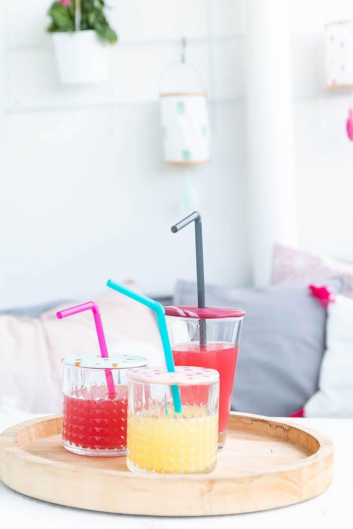 Bunte Glasdeckel aus Fimo basteln - ein tolles DIY für die ganze Familie - so kann der Sommer kommen | ars textura - DIY Blog
