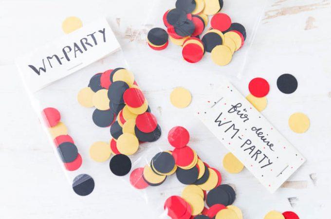 DIY Deutschland-Konfetti für deine WM-Party