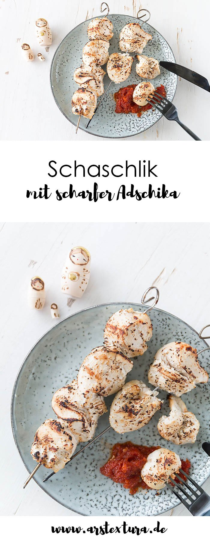 Schaschlik mit scharfer Adschika - das perfekte Grillrezept für die WM in Russland - Grillen auf Russische Art | ars textura - DIY Blog