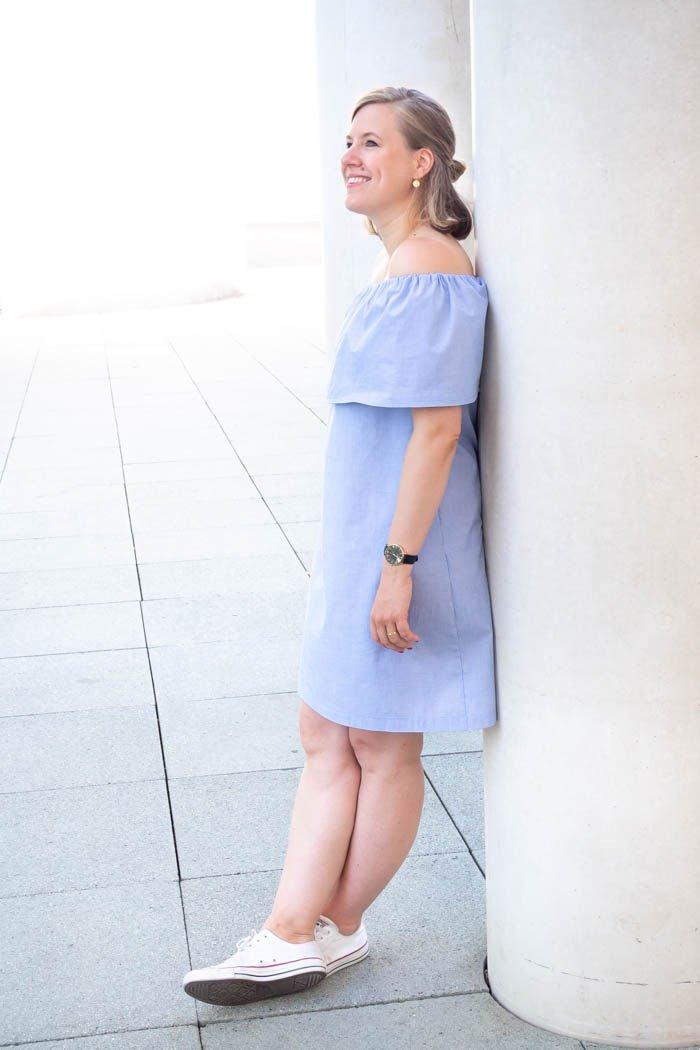 Einfaches Kleid nähen mit selbstgerechtem Schnittmuster