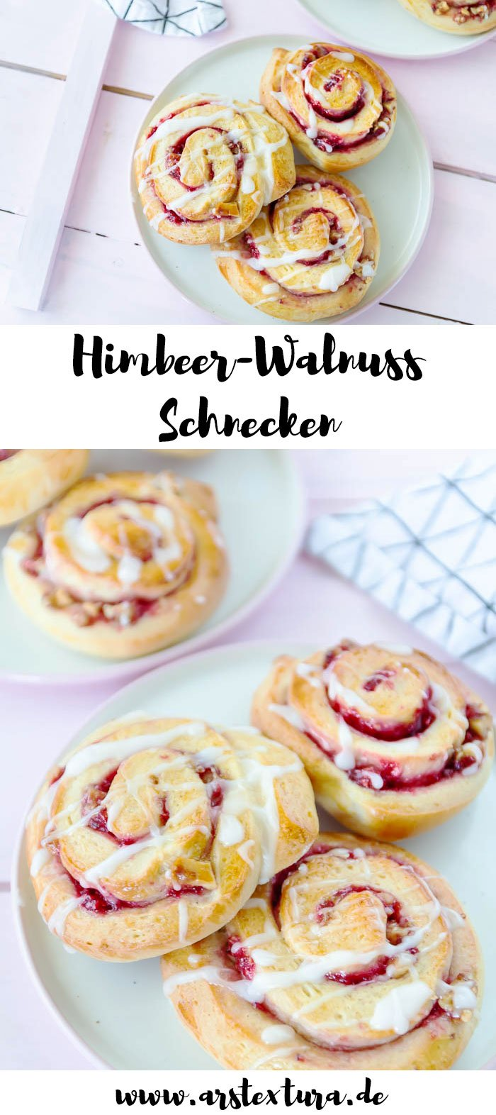 Himbeer-Walnuss Schnecken backen