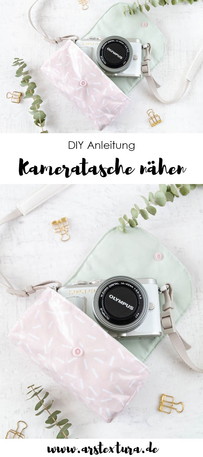 DIY Kameratasche nähen mit Anleitung