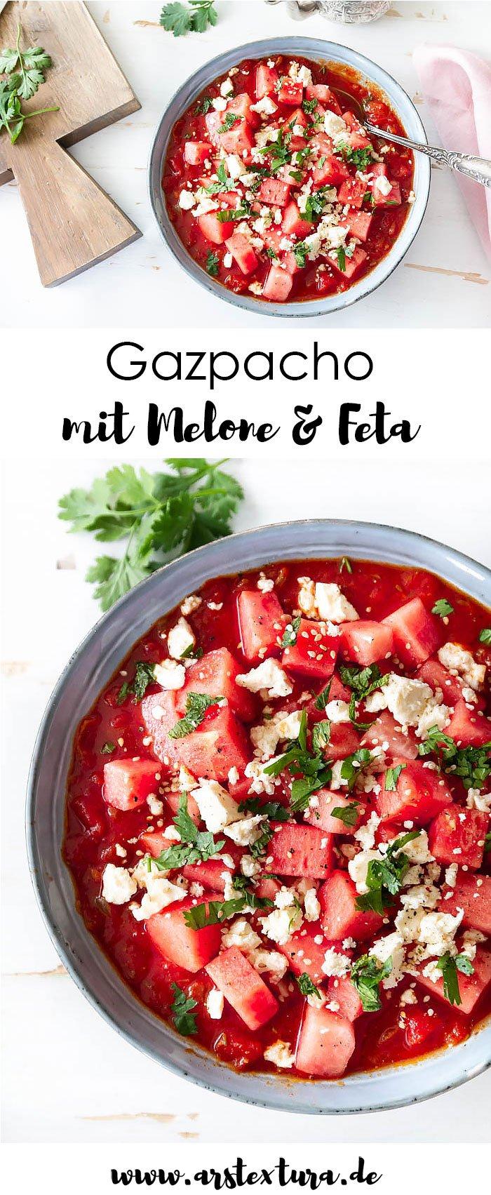 Rezept Gazpacho mit Melone und Feta - ein tolles Sommerrezept aus der spanischen Küche