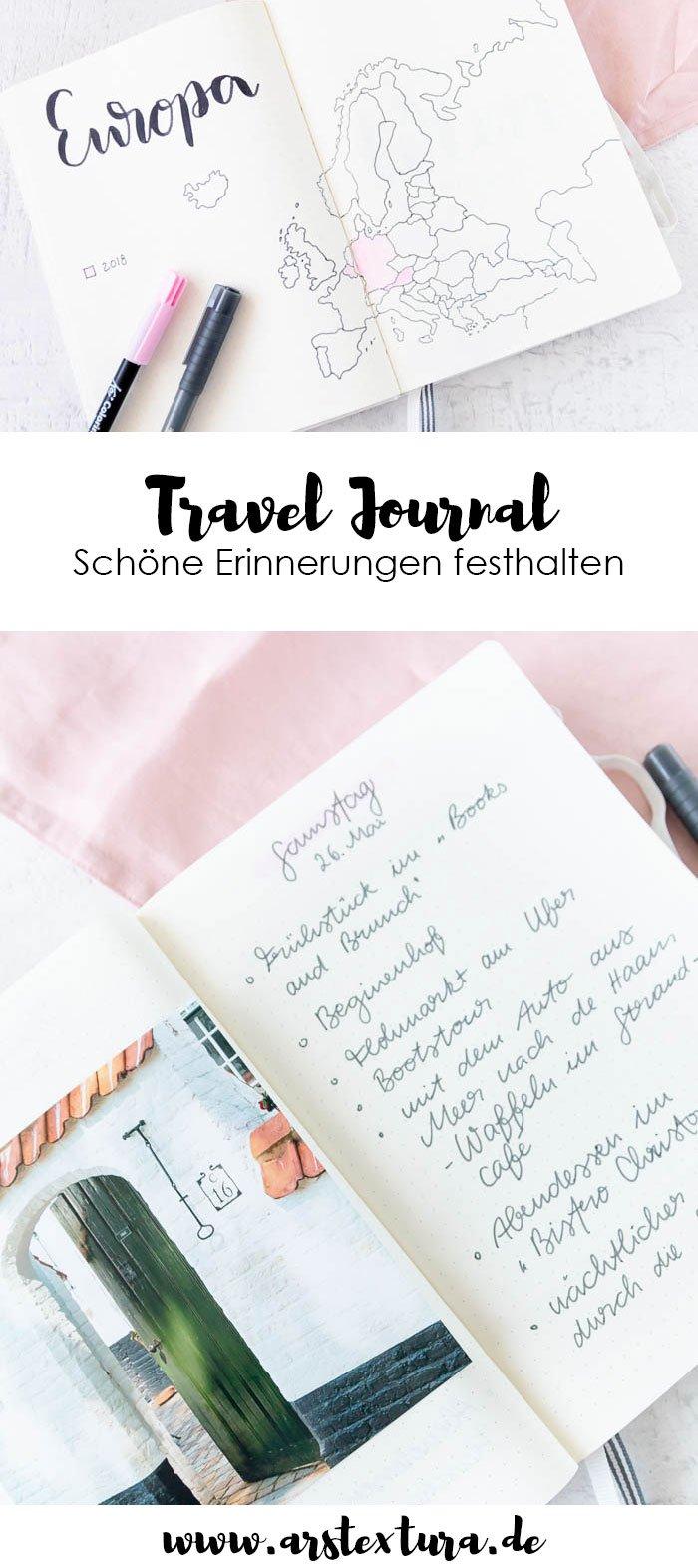 Travel Journal selber machen - ein einfaches Reisetagebuch