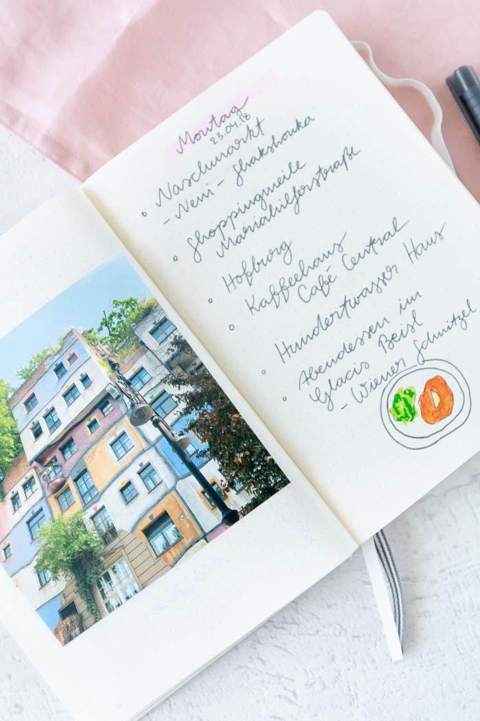 Travel Journal mit Handlettering selber machen