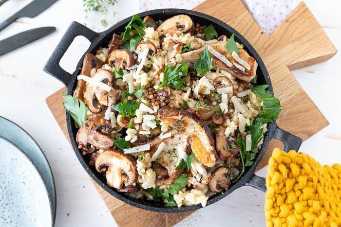 Risotto mit Pilzen und Buchweizen