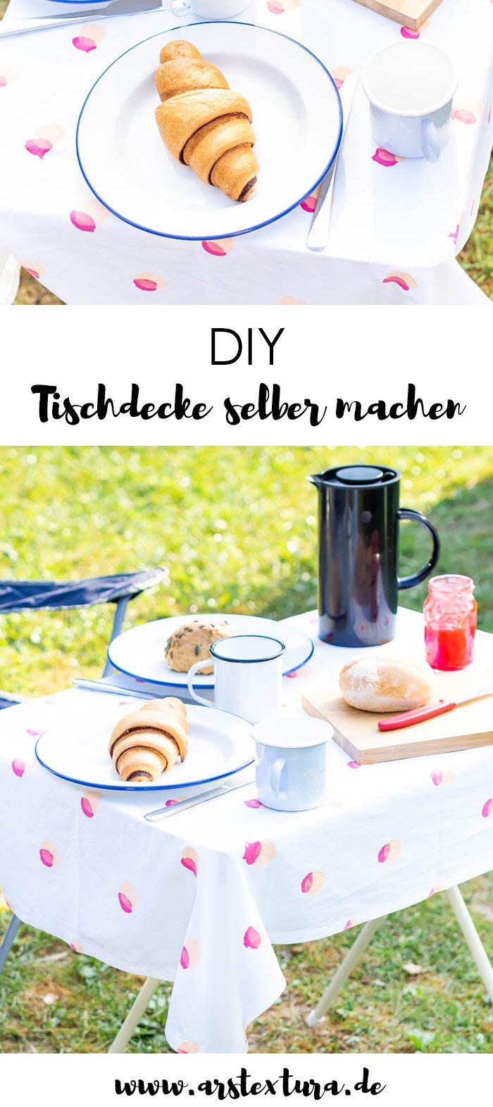 DIY Tischdecke selber machen: eine tolle Tischdeko für den Sommer | ars textura - DIY-Blog