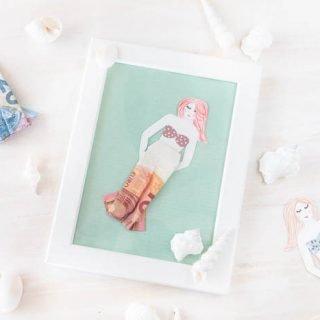 Meerjungfrau Geldgeschenk - Geldscheine falten mit Anleitung