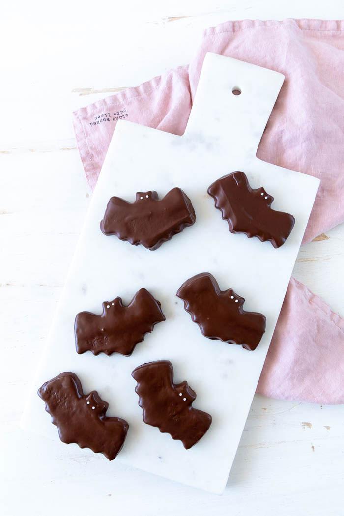 Fledermaus Kekse für deine Halloween-Party