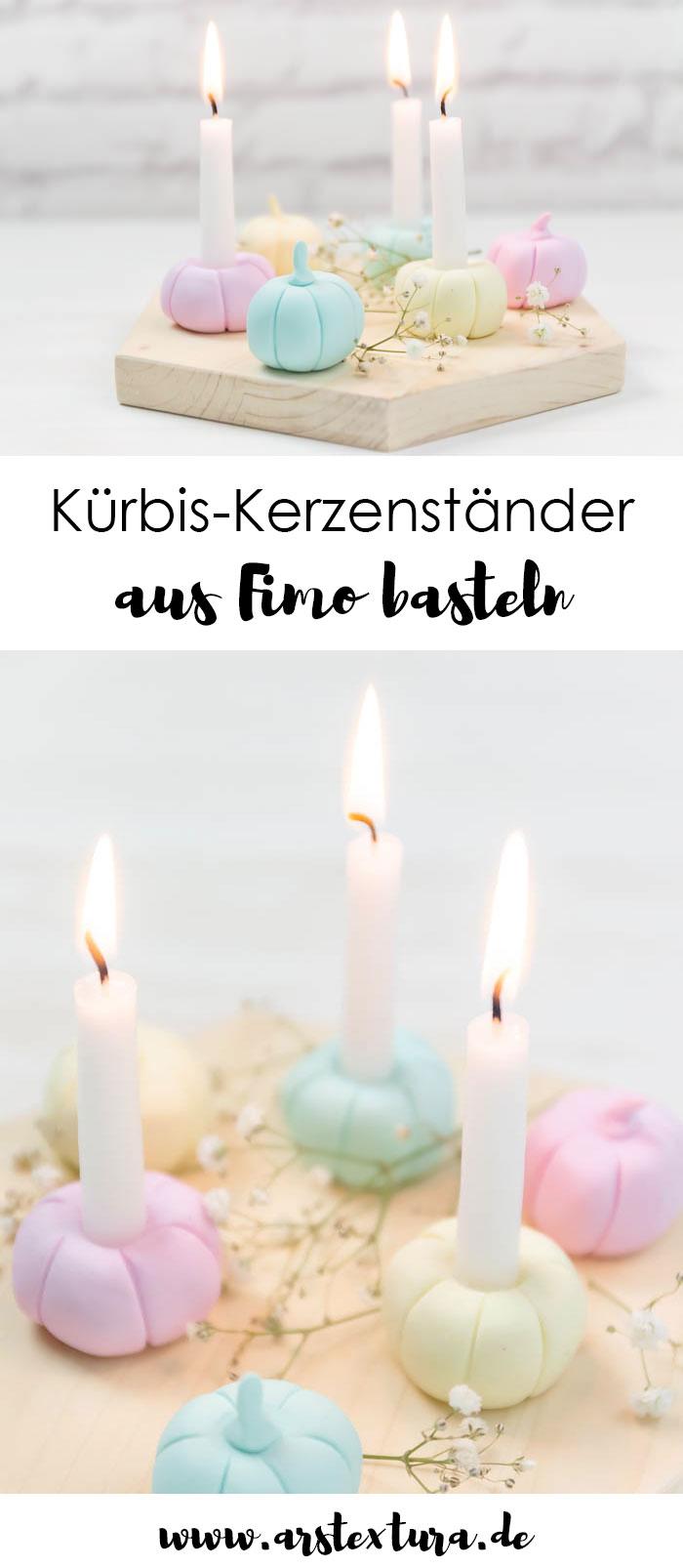 DIY Kerzenständer aus Fimo - Kürbis Deko für den Herbst