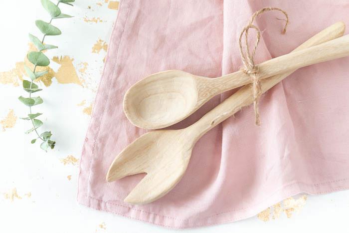 DIY Salatbesteck und Holzlöffel selber machen