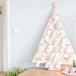 Weihnachtsbaum Adventskalender basteln